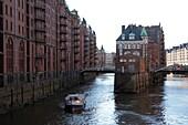 Warehouse district at Poggenmuhle, Hamburg, Germany, Europe