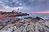 Portland Head Lighthouse, Portland, Maine, New England, United States of America, North America