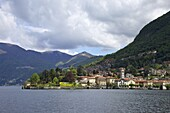 View of Torno in spring sunshine, Lake Como, Lombardy, Italian Lakes, Italy, Europe