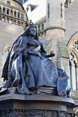 Queen Victoria statue, The McManus, Dundee, Scotland