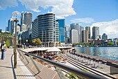 Sydney city centre and Circular Quay at Sydney Harbour, Sydney, New South Wales, Australia, Pacific