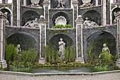 Detail of Water Theatre, Isola Bella Palace Gardens, Borromean Islands, Lake Maggiore, Piedmont, Italian Lakes, Italy, Europe