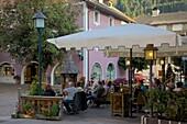 Cafe, Ortisei, Gardena Valley, Bolzano Province, Trentino-Alto Adige/South Tyrol, Italian Dolomites, Italy, Europe