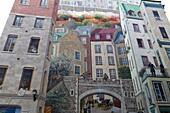 Mural of Quebecers, Quebec City, Quebec Province, Canada, North America