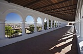 Arched walkway in Plaza Anzures, Sucre, UNESCO World Heritage Site, Bolivia, South America