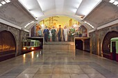 Punhung station, one of the many 100 metre deep subway stations on the Pyongyang subway network, Pyongyang, Democratic People's Republic of Korea (DPRK), North Korea, Asia