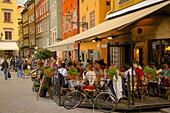 Stortorget Square cafes, Gamla Stan, Stockholm, Sweden, Scandinavia, Europe