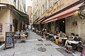 France,  French Reviera,  Nice,  Old city Center , Restaurants,  bars