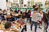 Pizzeria da Michele, full restaurant, Pizza, Marinara and Margherita, simple and traditional, wood-fired oven, dough, pastry, popular, fast-food, Italian, restaurant, lifestyle, culture, cult, famous, Italian food, Naples, Italy