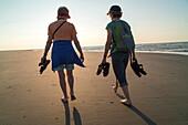 tourist, beach walker, island of Juist, dunes, Lower Saxony, Germany