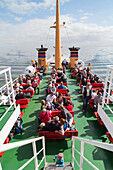 passengers on board the ferry to Island of Juist, North Sea, Lower Saxony, Germany