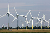 wind farm, agricultural landscape, Cuxhaven, Lower Saxony, Germany