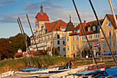 Seaside Resort architecture in Kuehlungsborn, Baltic Sea Coast, Mecklenburg Western Pomerania, Germany