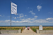 Access to the beach in Kuehlungsborn, Baltic Sea Coast, Mecklenburg Western Pomerania, Germany