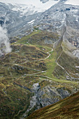 View of the mountain hut at Hintertux Glacier, Zillertal, Tyrol, Austria, Alps
