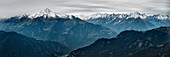 panoramic view of the Alps in Zillertal, Tyrol, Austria, Alps