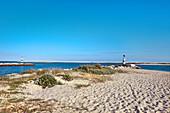 Beach, fishing village Fuzeta, Olhao, Algarve, Portugal