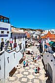 Main street, Rua 5 de Outubro, Albufeira, Algarve, Portugal