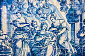 Tiled pictures (Azulejos), regional museum in monastery Nossa Senhora da Conceicao, Beja, Alentejo, Portugal