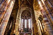Interior view, Se Cathedral, Silves, Faro, Algarve, Portugal