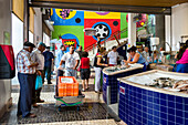 Fish market, market hall, Lagos, Algarve, Portugal