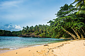 Beach of Praia Piscina on the south coast of Sao Tome, Sao Tome and Principe, Atlantic Ocean, Africa