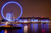 The London Eye at night, London, England