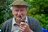 Yorkshire man with pipe, Bradfield, Yorkshire, England