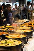 Food market at Brick Lane in East London, London, England