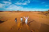 Fun in the sand dunes, Tabuk, Saudi Arabia