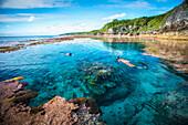 Niue Island's rugged coastline, Niue