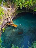 To Sua Trench, a popular tourist swimming spot, Upulu Island, Vanuatu