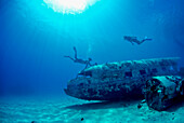 Snorkelling on plane wreck, near Majuro, Marshall Islands