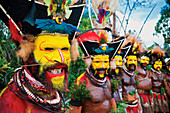 Sing-Sing performer at a local performance, Southern Highland Province, Papua New Guinea