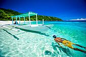 Snorkelling off a beach near Baucau on Timor's Northern coast, Timor-Leste