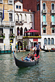 A gondola on the Grand Canal, Venice, Italy