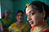 A hijra transgender sex worker at a drop in centre
