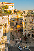 Residential and retail buildings, Genoa, Liguria, Italy