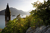View From Above Perast Looking Towards The Islands At Sunset,Kotor Bay Montenegro.Tif