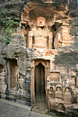 Statues Of Jain Gods Gwalior Madhya Pradesh India
