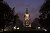Europe, Uk, Gb, England, London, Royal Albert Memorial At Dusk
