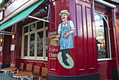 Uk, England, London, Victoria, Fish And Chips Restaurant Painting