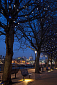 View of St Paul's Cathedral from the South Bank, London, England