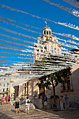 Alcudia's Town Hall And Street Decoration, Mallorca, Balearic Islands, Spain