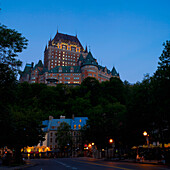 'Chateau Frontenac and the lower old city; Quebec City, Quebec, Canada'