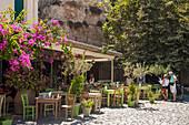 'Restaurant patio; Chania, Crete, Greece'