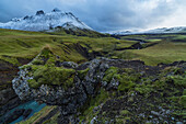'The mountains and rivers of Icelands central highlands take on an otherwordly feel after the countries first snowfall; Iceland'