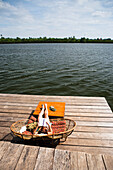 'Relaxing along the Koh Sla river; Kampot, Cambodia'