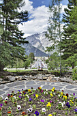 'Banff National Park Administration Office looking towards town; Banff, Alberta, Canada'