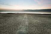 A Walkway On The Beach, North Sea, Belgium